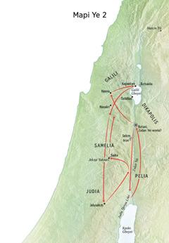 Mapi a mia gɛ kinii Yesu lini na sia nyikɔ Jɔdan Yei la na kɛ Judia lɔlei