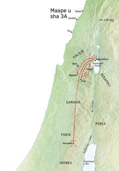 Maape u tom u Yesu' ken Galilia, Kapernahum, Kana