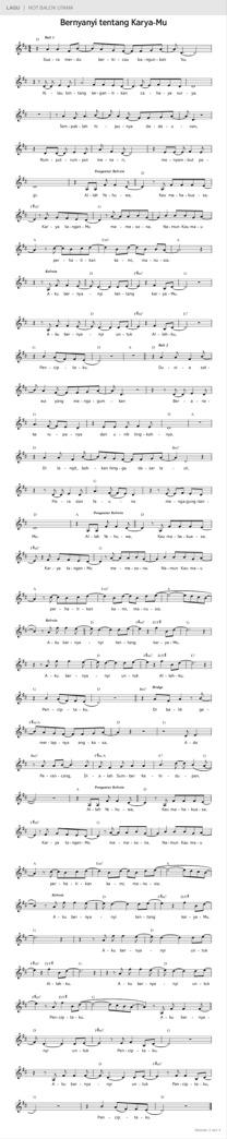 Bernyanyi tentang Karya-Mu