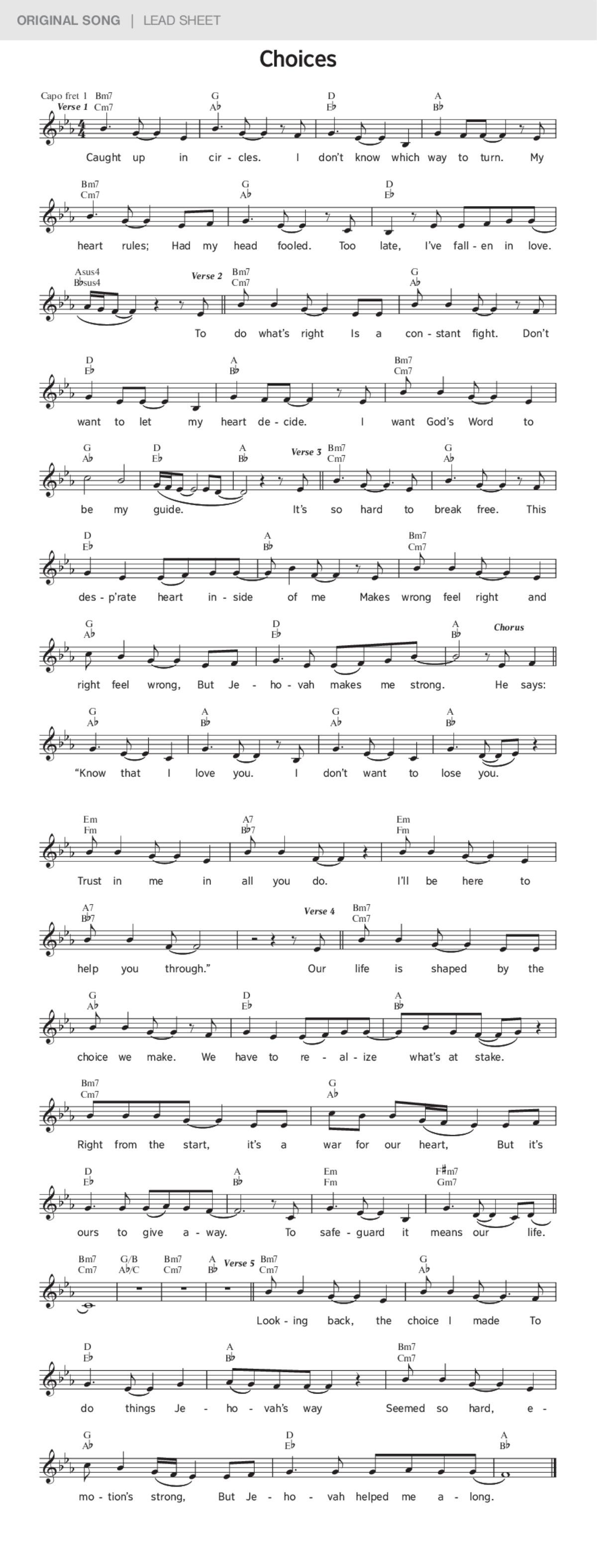 Choices   JW ORG Original Song