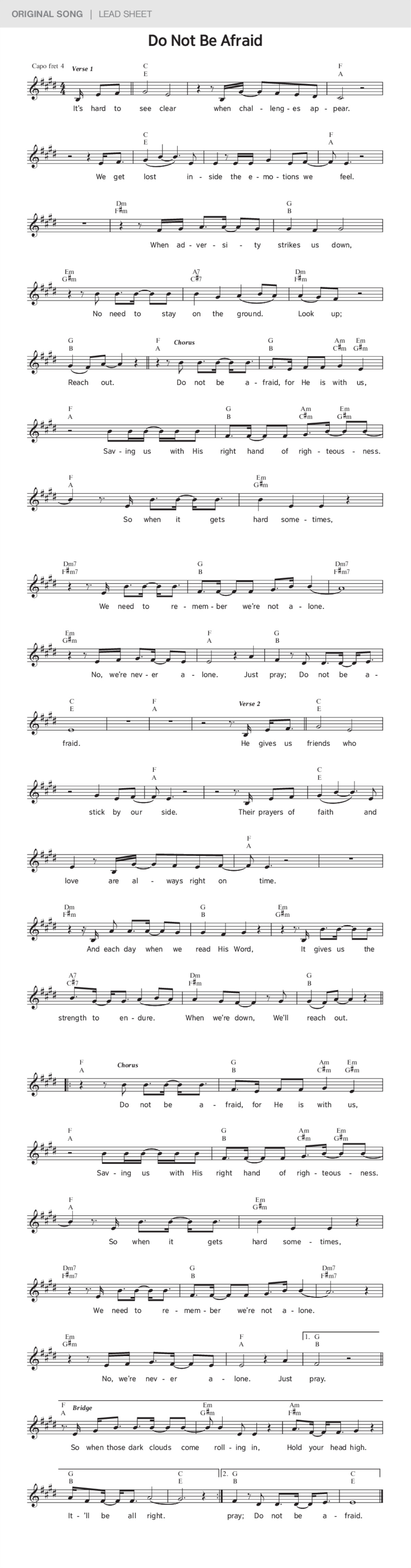 Do Not Be Afraid | JW ORG Original Song