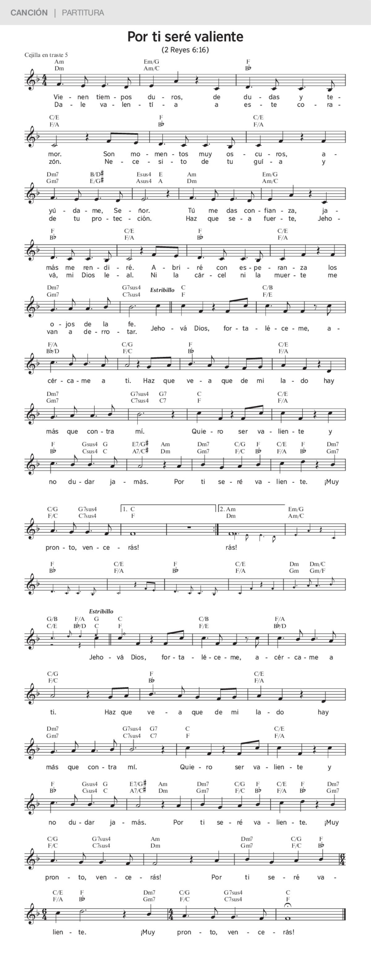 Por Ti Seré Valiente Canciones De Jworg