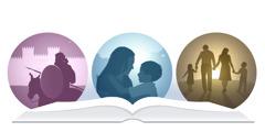 عائلة؛ ام وابنها في الفردوس؛ كورش عند بوابات بابل
