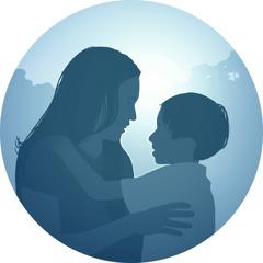 ام وابنها في الفردوس