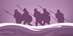 جيش كورش يمشي في مجرى نهر الفرات