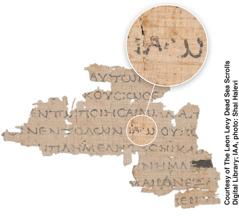 Fragmento do Mar Morto contendo o livro de Levítico