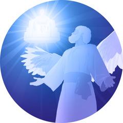 يسوع يقف امام عرش الله