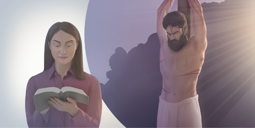 A woman meditates on Jesus' ransom and his role as King of the Kingdom