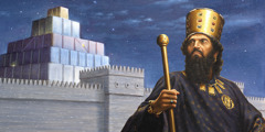 King Cyrus and the city of Babylon