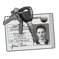 Шофьорска книжка и ключове за кола