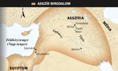 1. Asszir szárnyas bika; 2. térkép az Asszír Birodalomról