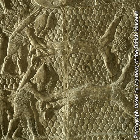 Relevo em pedra assírio
