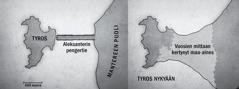 Kaksi Tyroksen karttaa