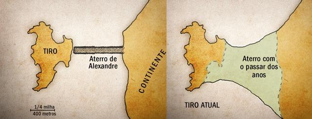 Dois mapas de Tiro