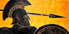 Griechischer Soldat aus alter Zeit