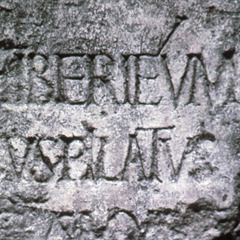 A stone inscription bearing the name of Pontius Pilate