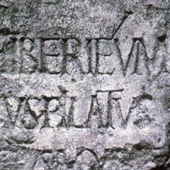 En steininnskrift med navnet Pontius Pilatus