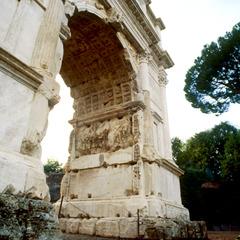 Titusbågen i Rom.
