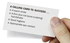 A business card