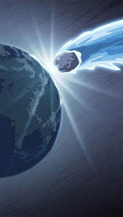 En stor asteroide