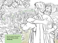 En mand takker Jesus fordi han har helbredt ham for spedalskhed