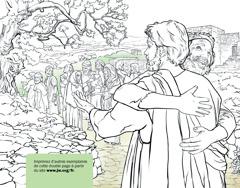 Un homme remerciant Jésus de l'avoir guéri de la lèpre