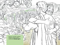 Mies kiittää Jeesusta spitaalinsa parantamisesta