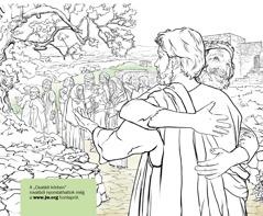 Egy férfi megköszöni Jézusnak, hogy kigyógyította a leprából