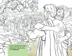 Vyras dėkoja Jėzui už tai, kad jį išgydė nuo raupsų