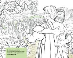 Moški se zahvaljuje Jezusu, da ga je ozdravil gobavosti