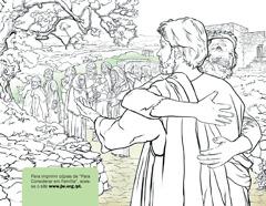 Um homem curado de lepra agradecendo a Jesus
