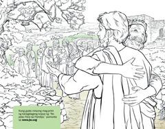 Isang lalaking nagpapasalamat kay Jesus dahil pinagaling ang kaniyang ketong
