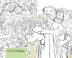 En man som tackar Jesus för att han botat hans spetälska