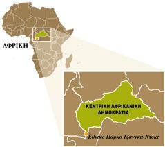 Χάρτης της Κεντρικής Αφρικανικής Δημοκρατίας