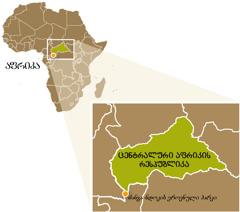 ცენტრალური აფრიკის რესპუბლიკის რუკა