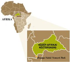 A Közép-afrikai Köztársaság térképe