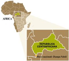 Cartina della Repubblica Centrafricana