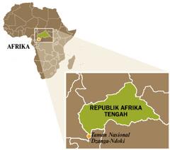 Peta Republik Afrika Tengah