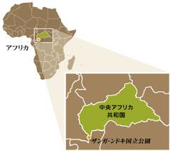 中央アフリカ共和国の地図