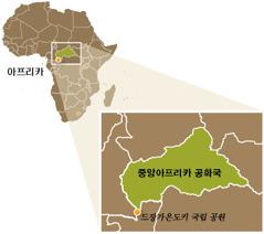 중앙아프리카 공화국 지도