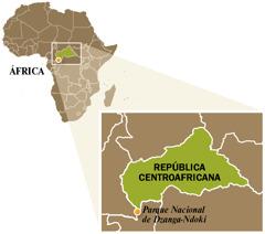 Mapa de la República Centroafricana