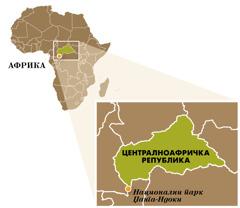 Карта Централноафричке Републике