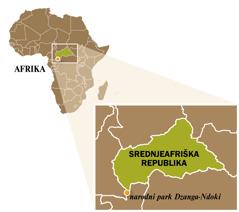 Zemljevid Srednjeafriške republike