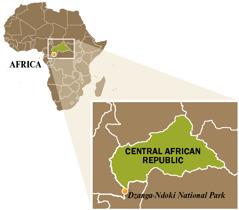 Isang mapa ng Central African Republic