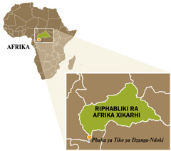 A map of Central African Republic