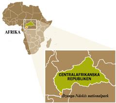En karta över Centralafrikanska republiken