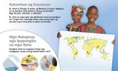 1. Mga bata sa Zambia; 2. Mga hulagway nga ipapangita sa mga bata