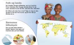1. Børn fra Zambia; 2. Børnenes billedquiz