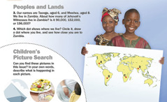 1. Children of Zambia; 2. Children's picture search