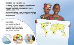 1. Sambialaisia lapsia. 2. Lasten kuvatehtävä